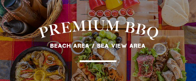 premium bbq beach area / sea view area